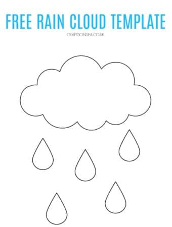 free rain cloud template pdf to download