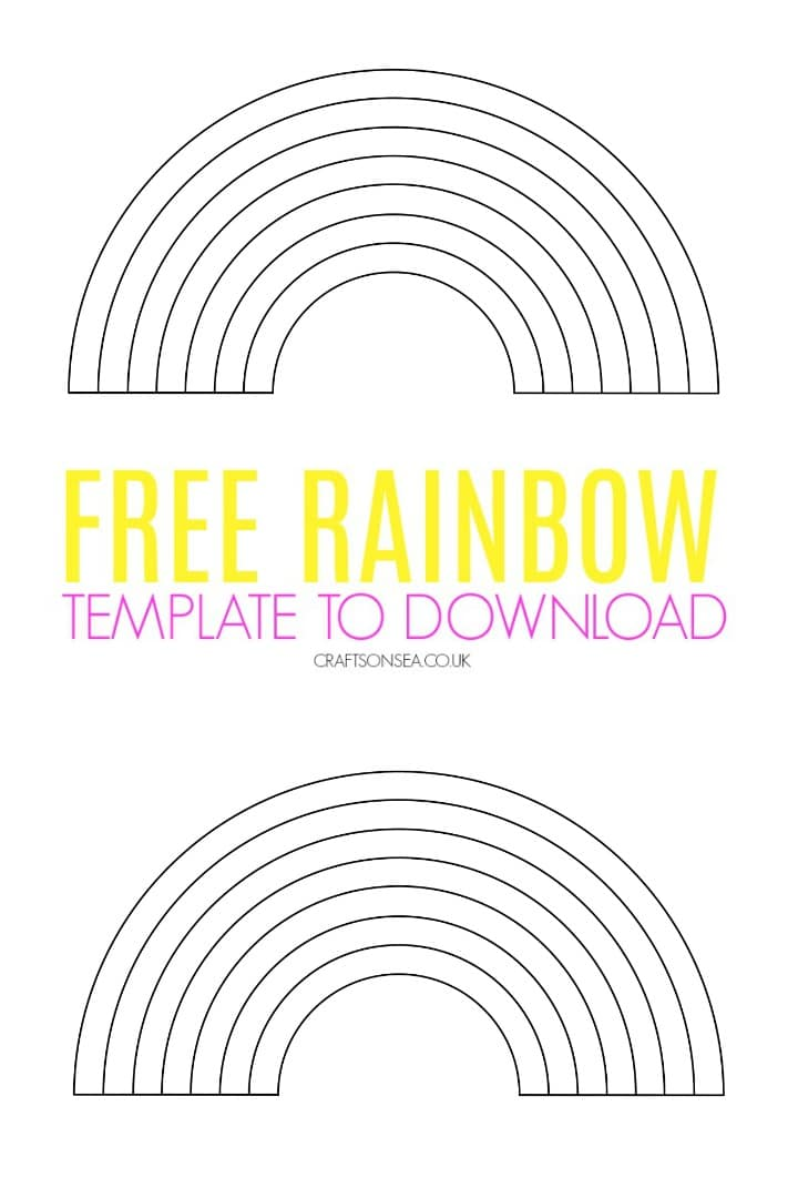 free rainbow template pdf to download