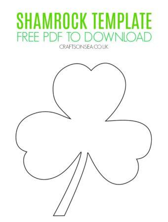 free shamrock template printable pdf