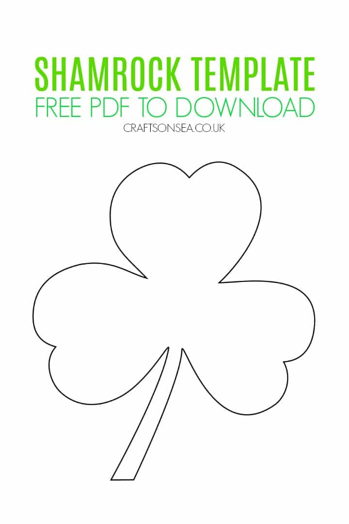 It is a graphic of Shamrock Template Printable Free in overlapping