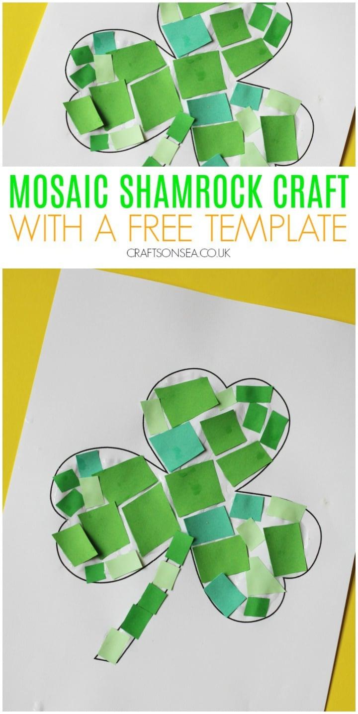 mosaic shamrock craft for kids