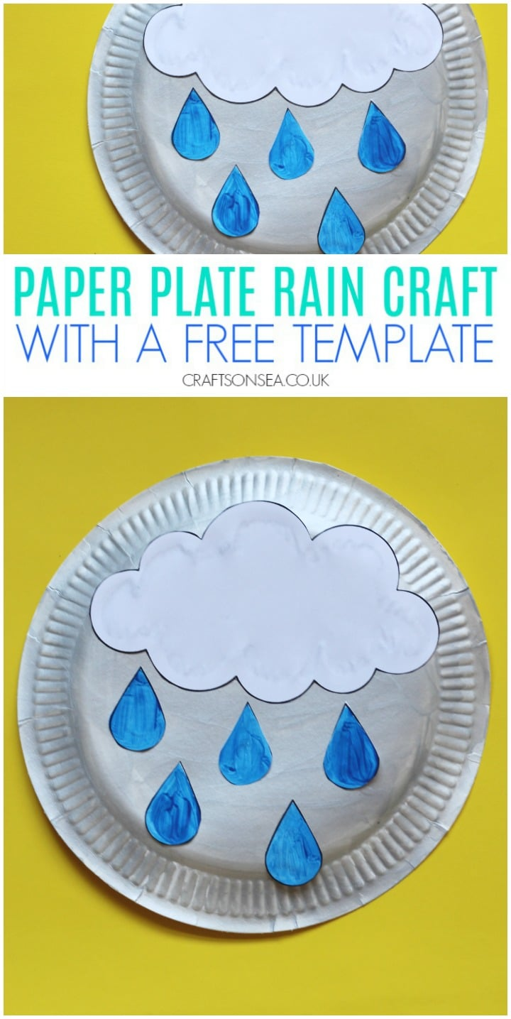 paper plate rain craft for kids