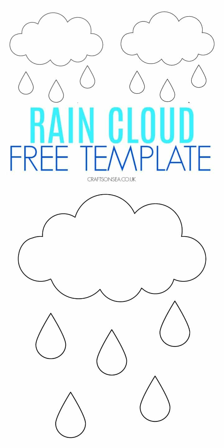 rain cloud template free pdf