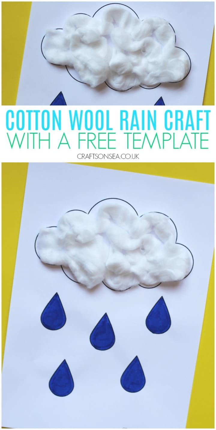 rain crafts for kids cotton wool