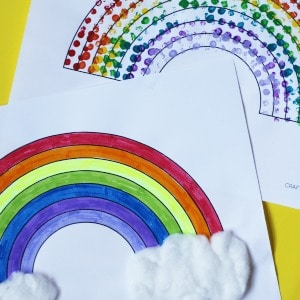 rainbow crafts for kids simple activities