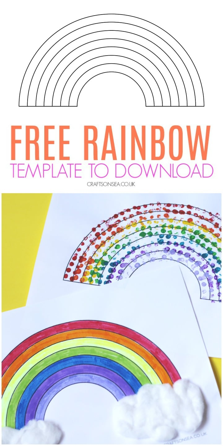 rainbow template free printable kids
