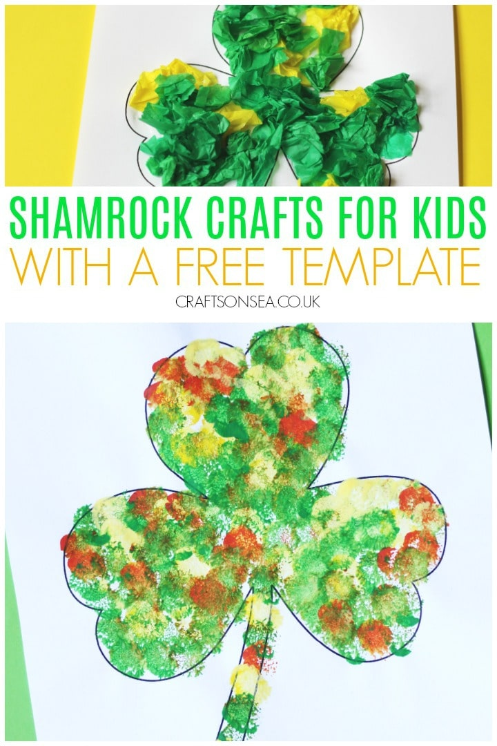 shamrock crafts for kids easy