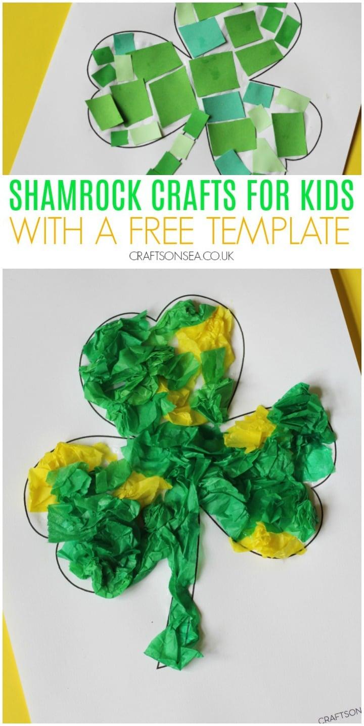 shamrock crafts for kids to make easy