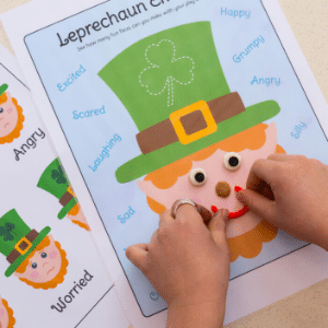 st patrick's day playdough mats free printable pdf