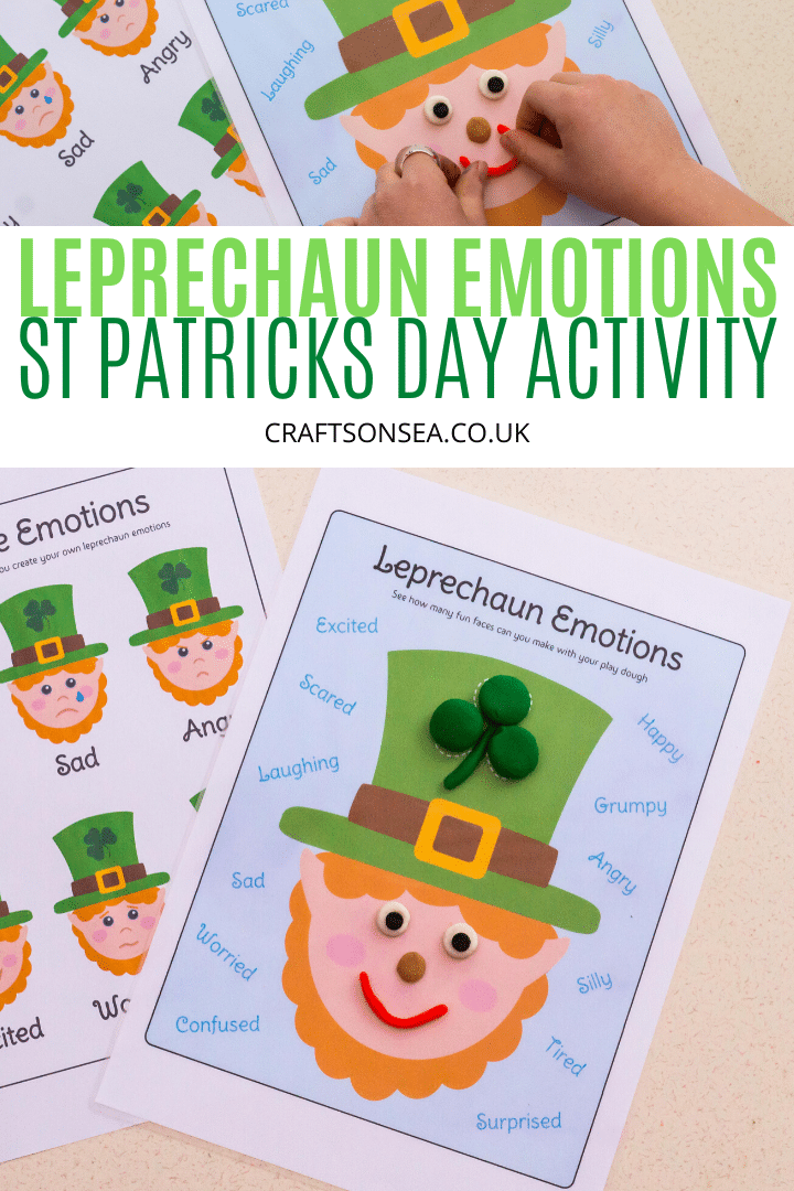 st patricks day playdough mats leprechaun activity