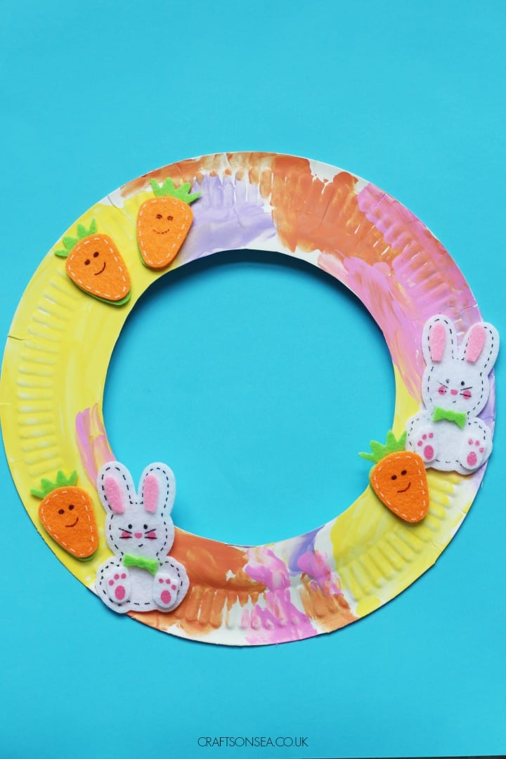 easter wreath craft for kids to make easy