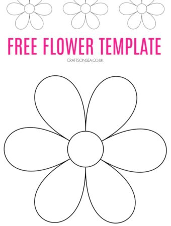 free flower template to download pdf