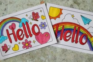 free printable cards for kids to colour