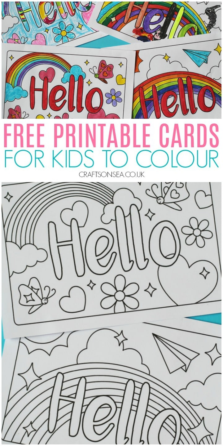 free printable cards for kids to colour pdf