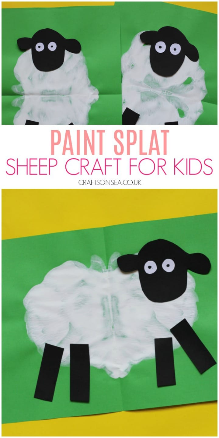 sheep craft for kids easy idea for preschool and sunday school