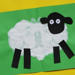 sheep craft preschoolers paint splat