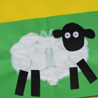 sheep craft preschool paint splat activity