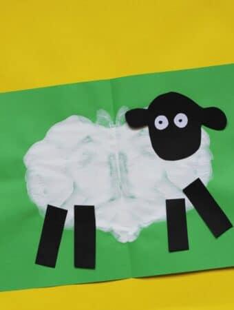 sheep craft preschool paint splat activity