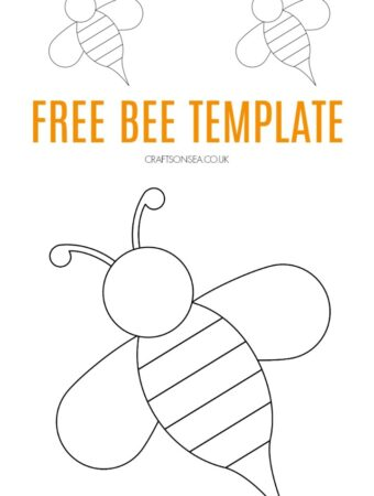bee template free pdf downloadable for kids