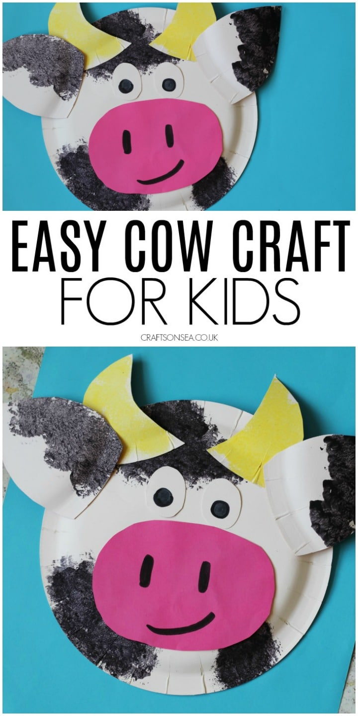 cow craft farm animal craft for kids easy