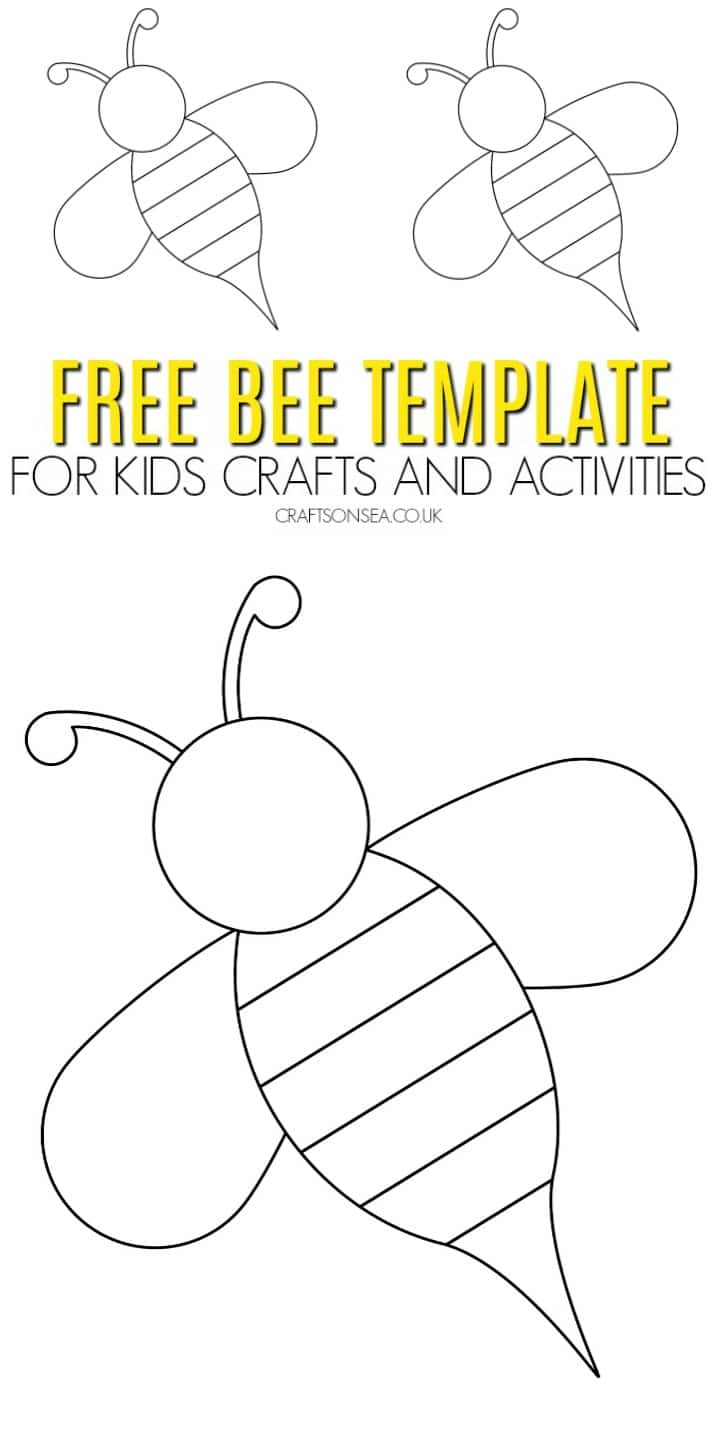 free bee template for kids crafts