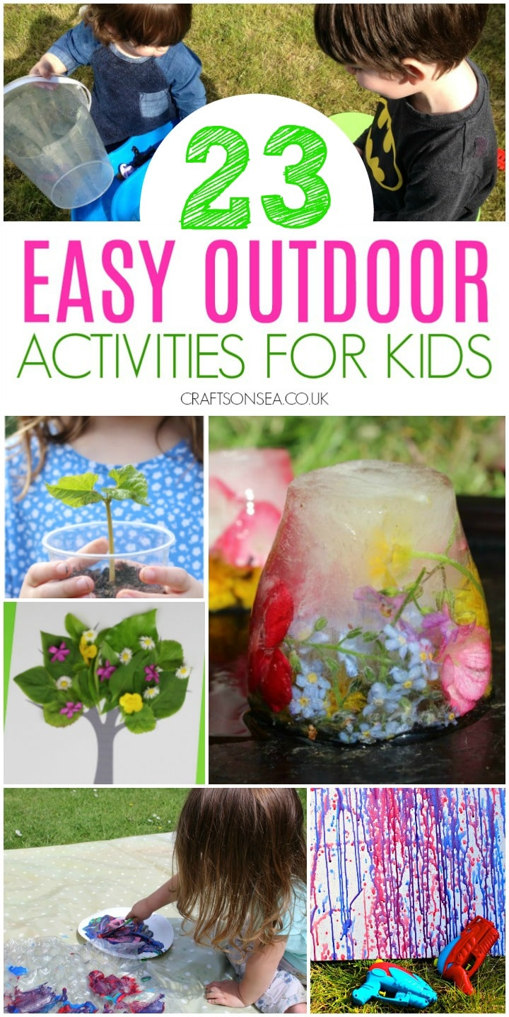 outdoor activities for kids at home easy