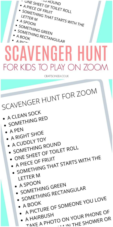 Scavenger Hunt For Zoom Free Printable For Kids Crafts On Sea