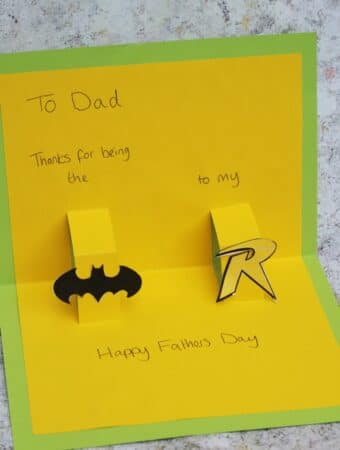DC comics fathers day card kids can make
