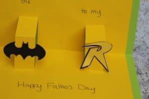 batman fathers day card diy