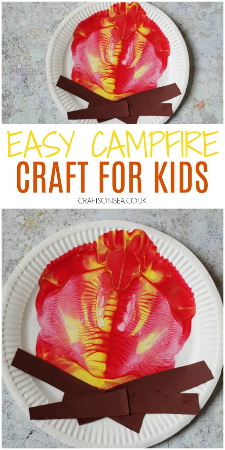campfire craft for kids easy paint splat