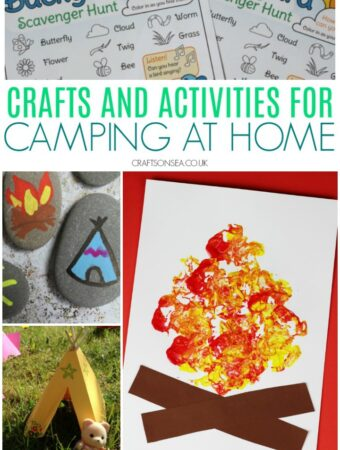 camping at home ideas for kids crafts and printable activities