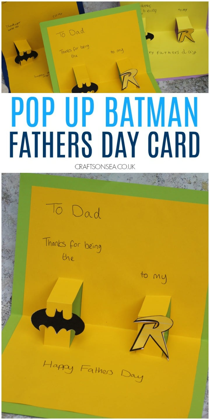fathers day cards for kids pop up batman dc comics