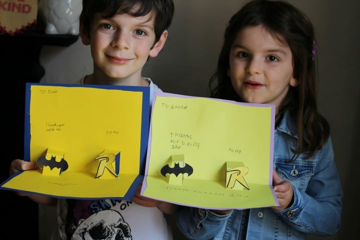 fathers day cards kids can make batman