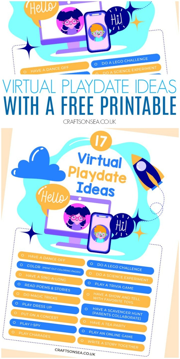 virtual playdate ideas for kids preschoolers zoom skype houseparty