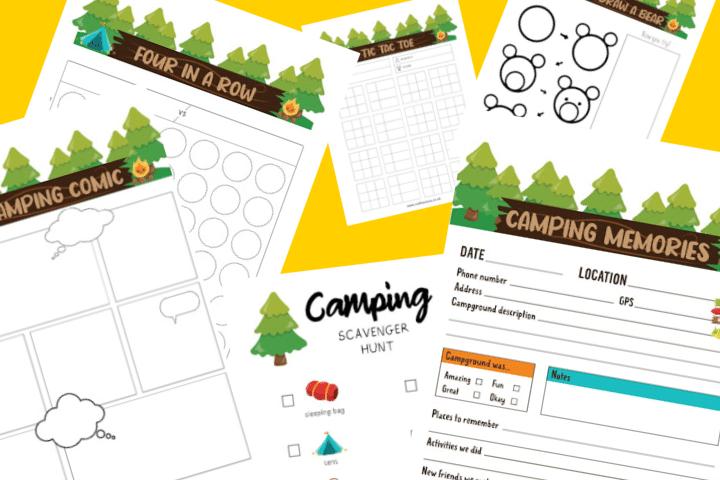 fiches activités camping imprimables