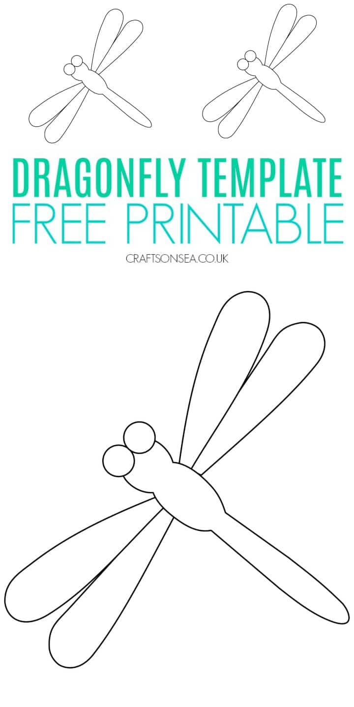 dragonfly template free printable pdf for kids crafts painting