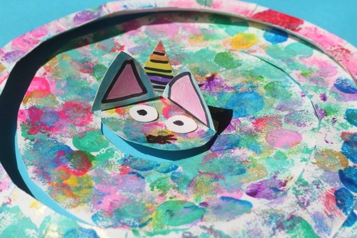 kitty unicorn paper plate craft