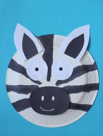 paper plate zebra easy craft for kids