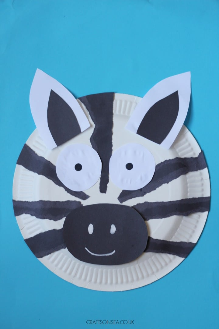 paper plate zebra easy craft for kids