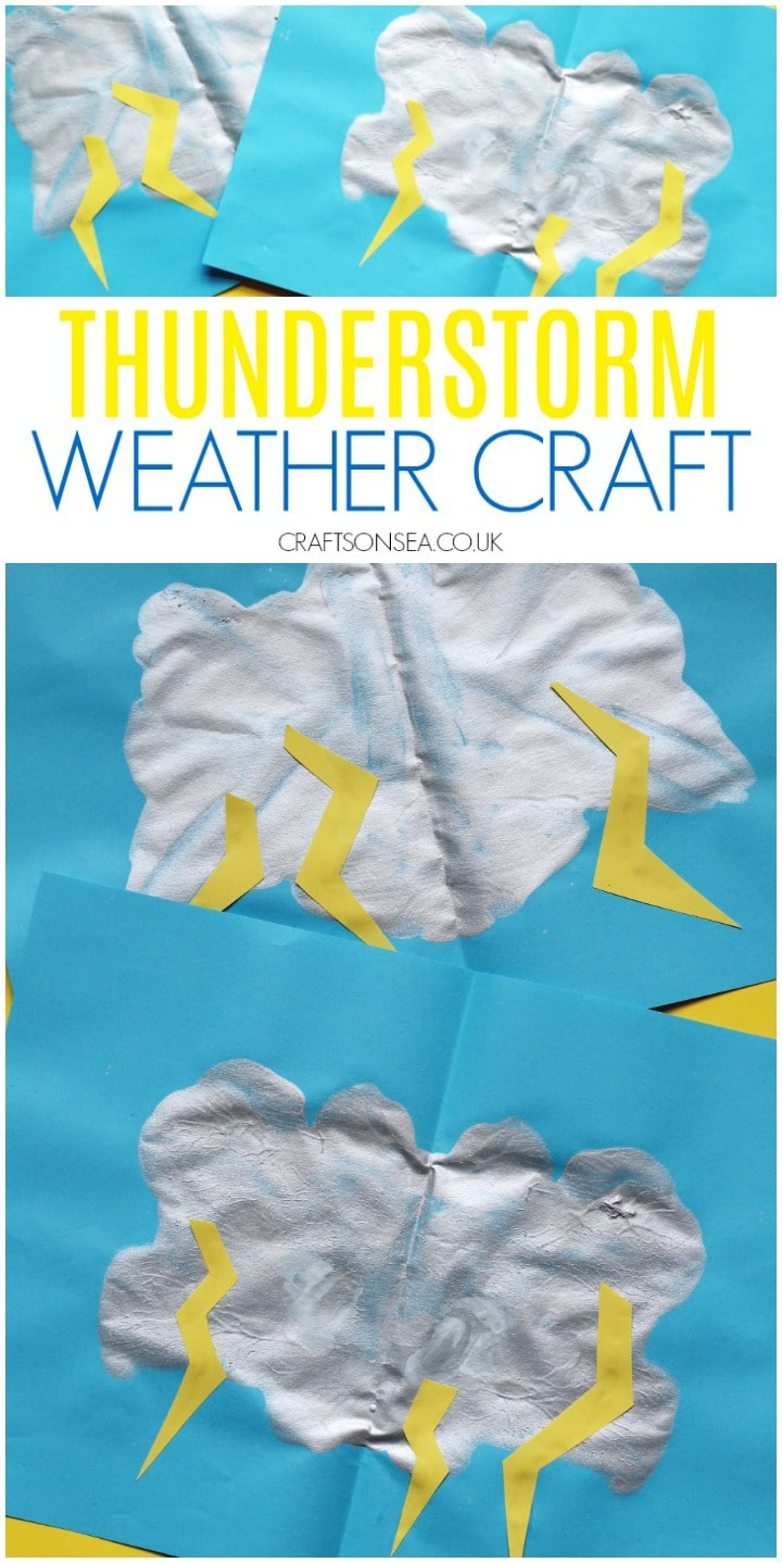 thunderstorm craft for kids easy weather activity