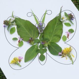 artisanat de la nature papillon pour les enfants