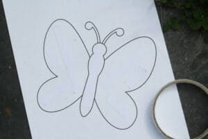 butterfly template for nature craft for kids