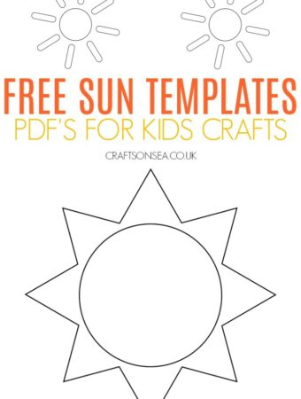 free sun templates for kids crafts PDF