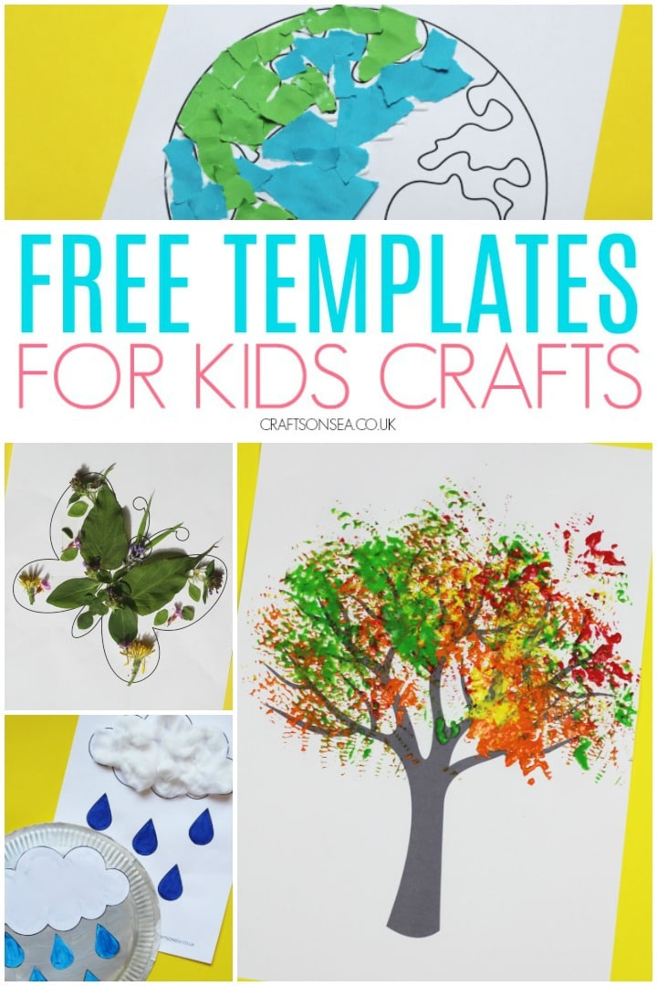 free templates for kids crafts and art tree butterfly earth and weather templates
