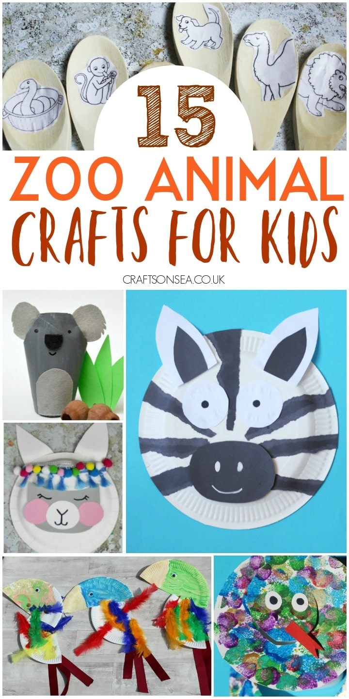 zoo animal crafts for kids easy preschool