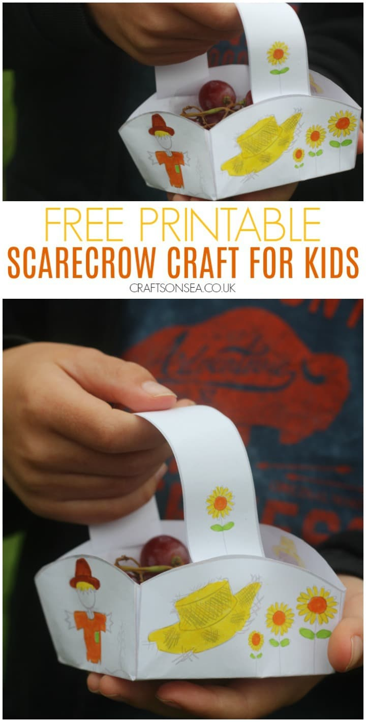 scarecrow craft for kids easy free printable
