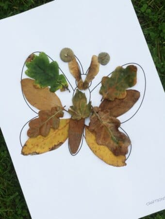Butterfly fall leaf craft for kids