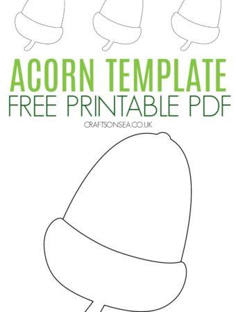 acorn template free printable PDF