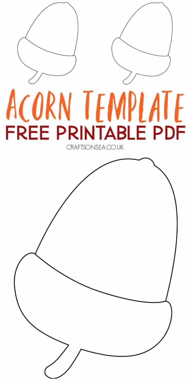 acorn template free printable