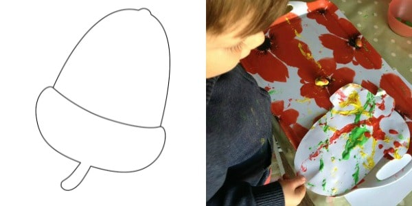 acorn template painting activity